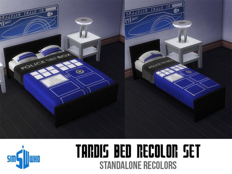 Sim Who's TARDIS Bed Set / Sims 4 CC
