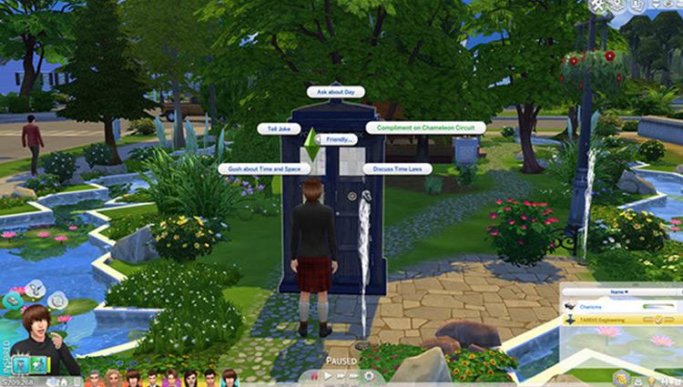 TARDIS Adventures CC for The Sims 4
