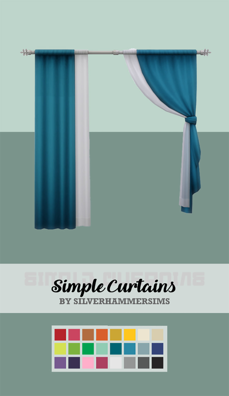 Simple Curtains Set for The Sims 4