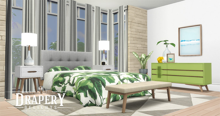 Drapery Delights / Sims 4 CC