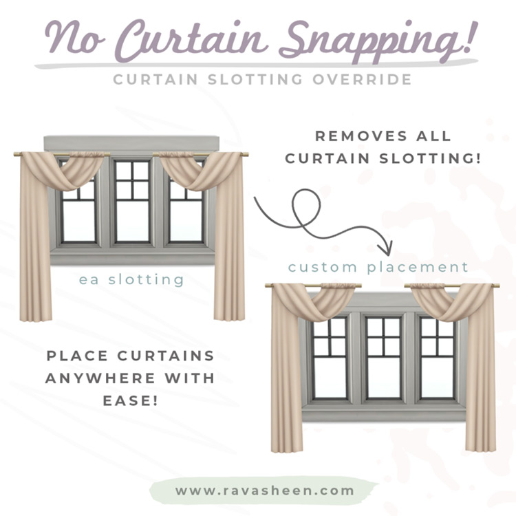 No Curtain Snapping for The Sims 4