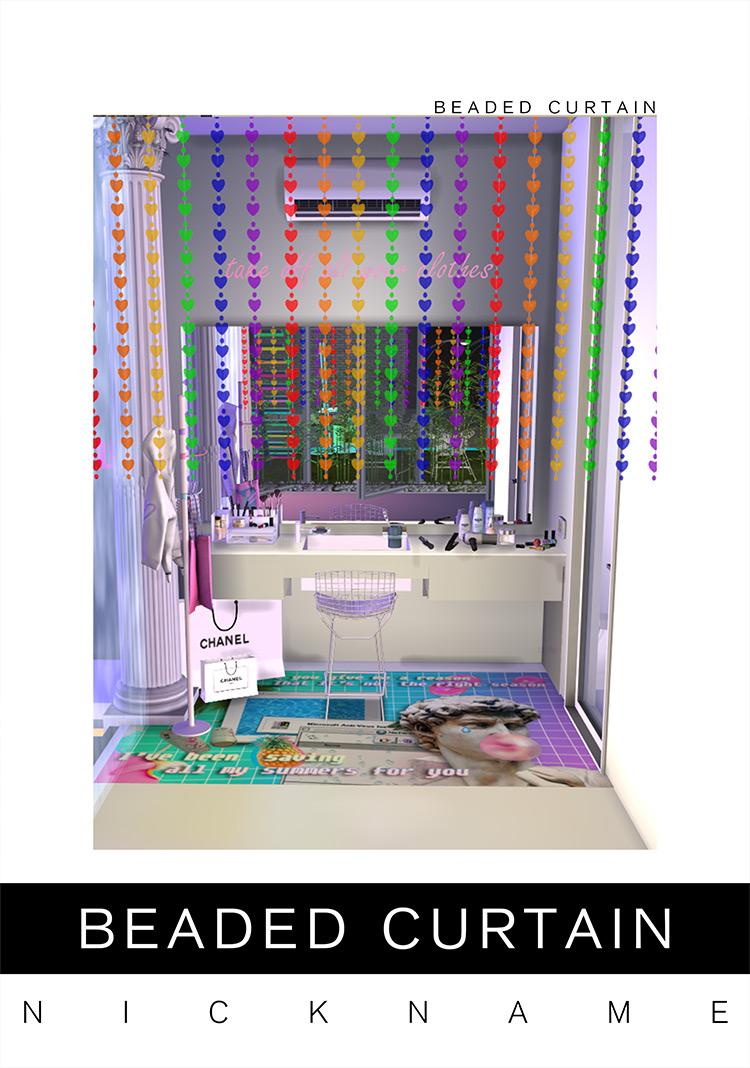 Beaded Curtain Set / Sims 4 CC