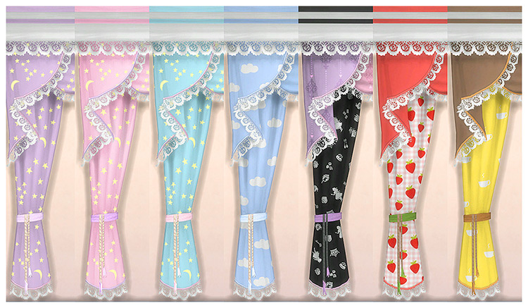 Frilly Curtains CC for The Sims 4