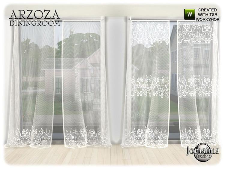 Arzoza Curtains / Sims 4 CC