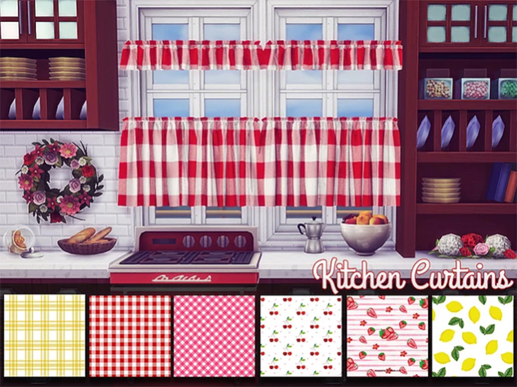 Kitchen Curtains for The Sims 4