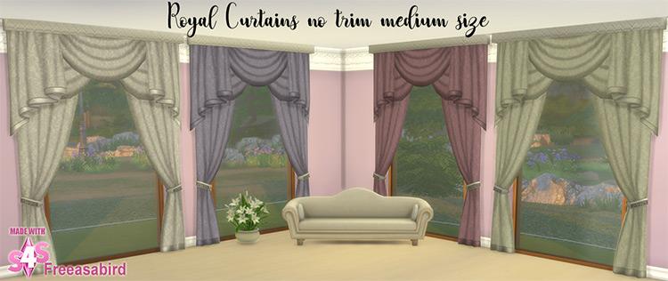 Medium Royal Drapes Set / TS4 CC