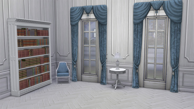 Federal Curtains From TS3 into TS4 CC