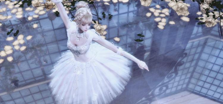 Alpha Ballet Suit CC for The Sims 4