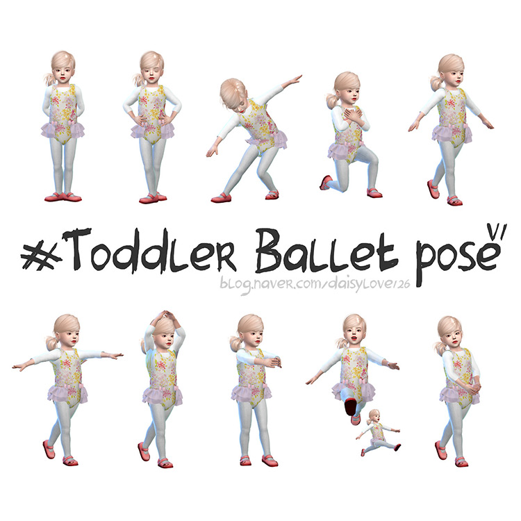 Toddler Ballet Poses for The Sims 4