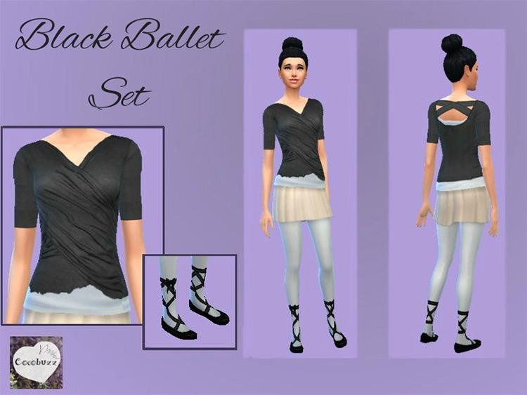 Black Ballet Set / TS4 CC