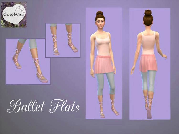 Ballet Flats for The Sims 4
