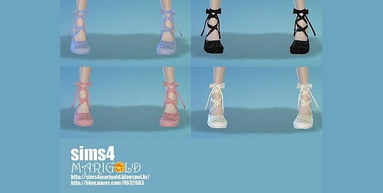 Ribbon Ballet Shoes / Sims 4 CC