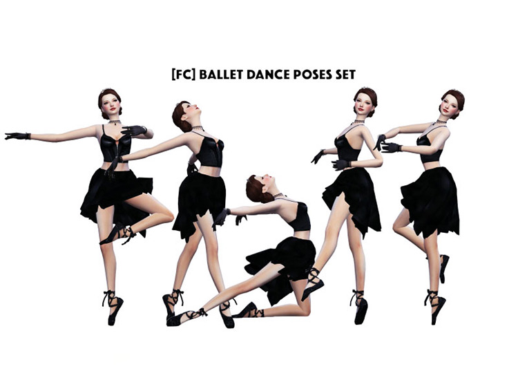 Ballet Dance Pose Set for The Sims 4