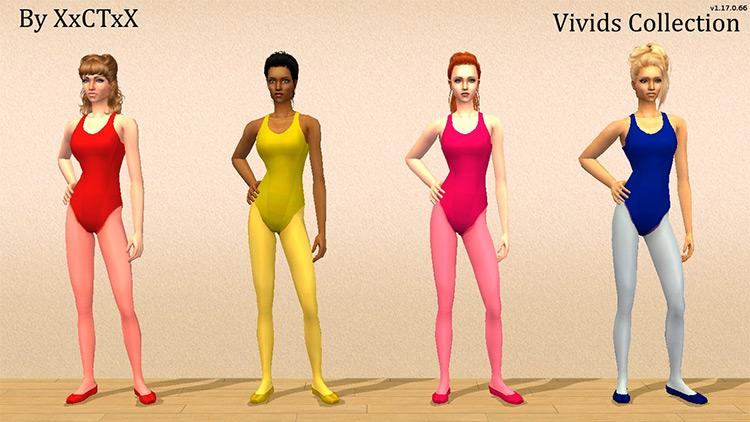 Freetime Ballet Leotards Collection / Sims 4 CC