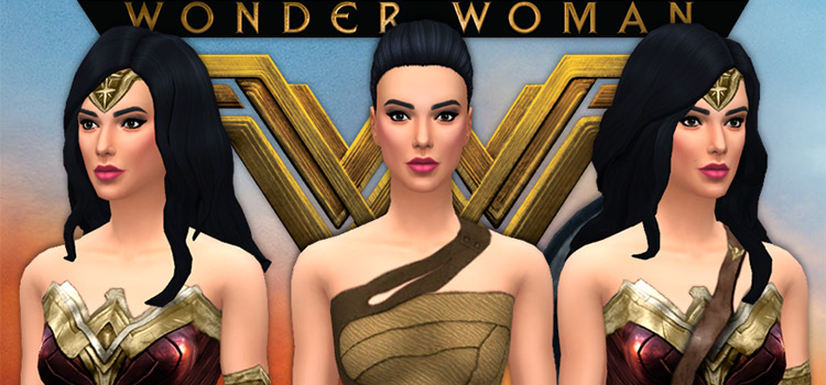 Wonder Woman CC Cosplay Outfit (Sims 4)