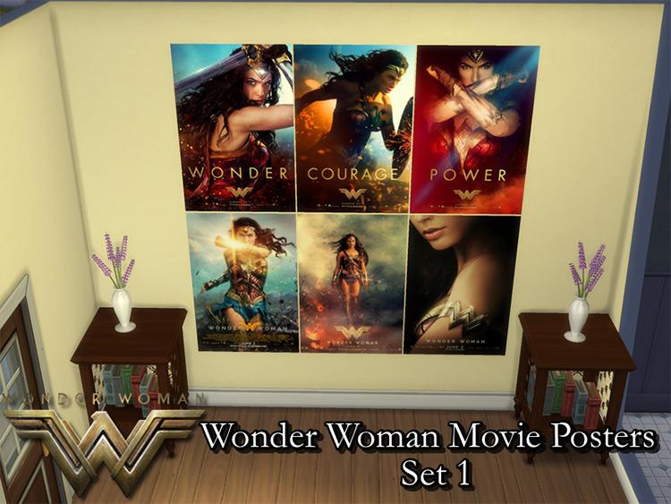Sims 4 CC Wonder Woman (2017) Posters