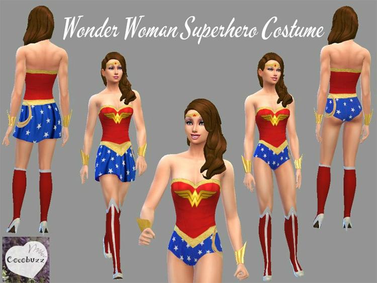Wonder Woman Superhero Costume / Sims 4 CC