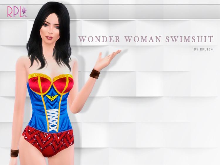 Wonder Woman Swimsuit / Sims 4 CC