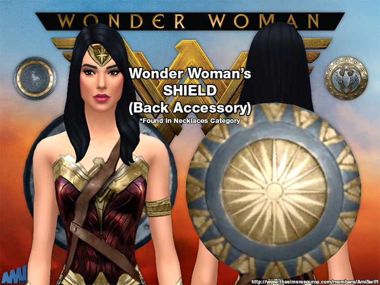 Wonder Woman (2017) Cosplay Outfit / Sims 4 CC