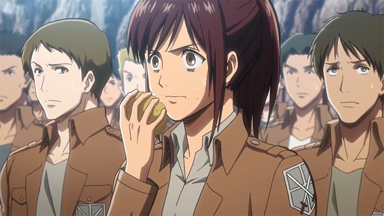 Sasha Braus from Attack On Titan screenshot