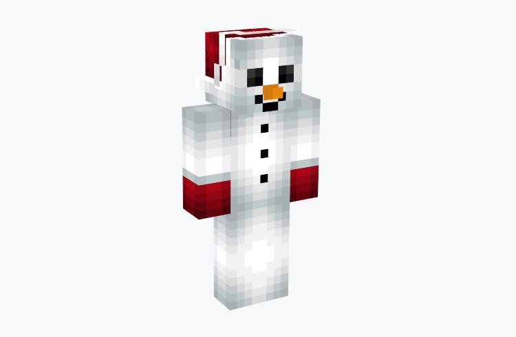 Snowman with Christmas Hat & Gloves / Minecraft Skin