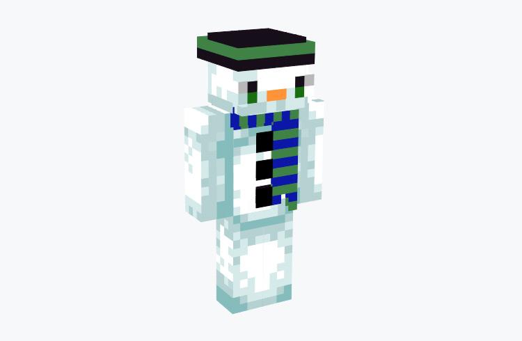 Snowman with Blue Scarf / Minecraft Skin