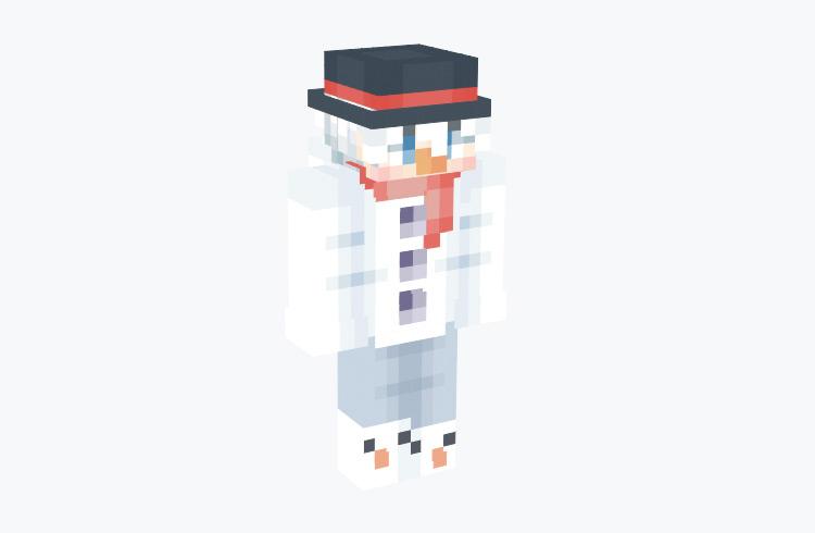 Frost the Snowman Gradient / Minecraft Skin