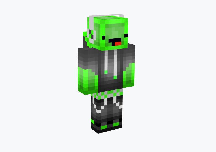 Green Derp Slime / Minecraft Skin