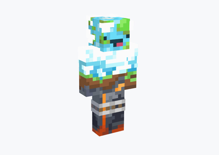 Our Earth with Derp Face / Minecraft Skin