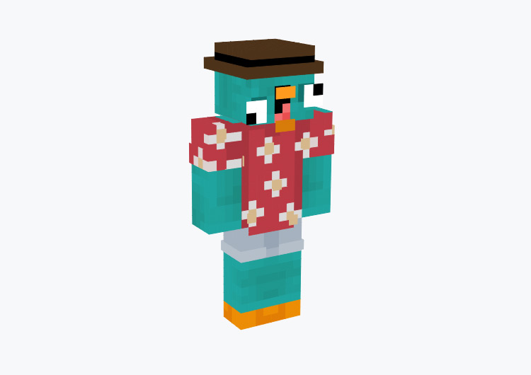 Derp Vacation Perry the Platypus / Minecraft Skin