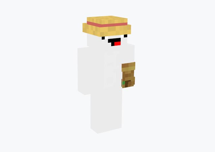 Endgame Farmer with Derp Face / Minecraft Skin