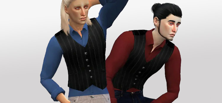 Judas Vest for Men / Sims 4 CC