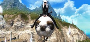 Albino Karakul Sheep Mount in FFXIV