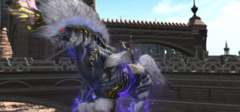 Riding on Ixion Mount in FFXIV