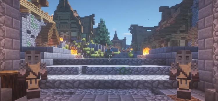 Skyrim Guards Area in Minecraft (Credit Laff)