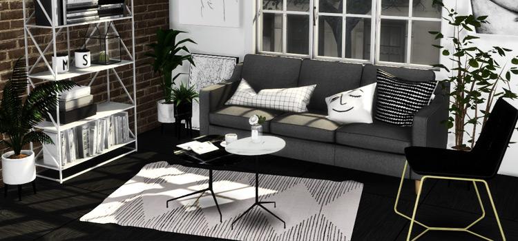 West Elm & TOm Dixon Living Room CC (The Sims 4)