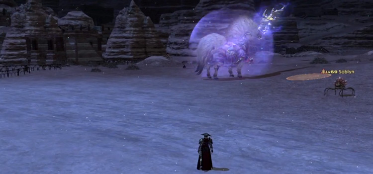 Standing near Ixion FATE in Final Fantasy XIV