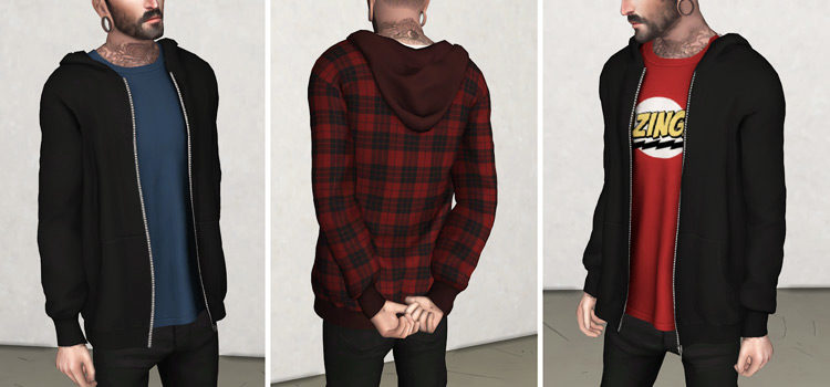 Sims 4 CC: Best Male Sweaters & Male Hoodies