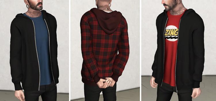 Simple Men's Hoodie Attire / Sims 4 CC