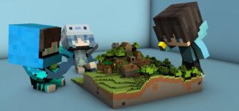 Blue Minecraft Skins Building A World