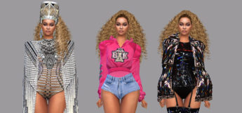 Beyonce Coachella 2018 Outfits in The Sims 4