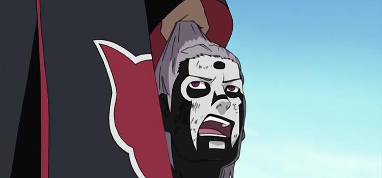 Kakuzu Holding Hidans Head in Naruto Anime