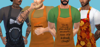 Male Thanksgiving Apron CC for The Sims 4