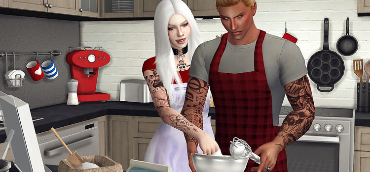 The Sims 4: Best Cooking & Kitchen Poses (All Free)