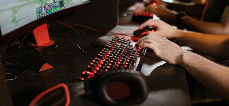 Lit-up Gaming Keyboard Photo
