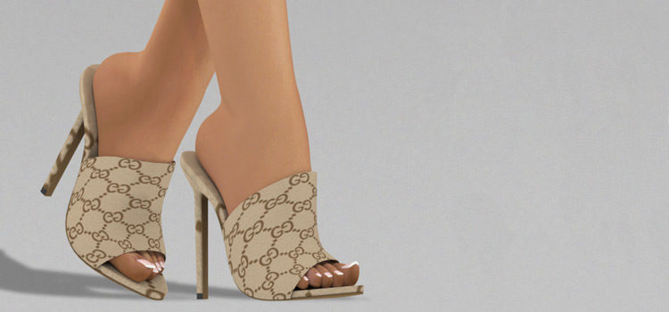 Sims 4 Open Toe Heels CC (All Free To Download)