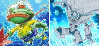Submarine Frog & Elemental HERO Absolute Zero (YGO) Card Arts