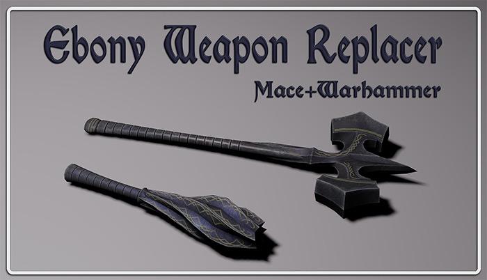 Ebony Weapons Skyrim mod