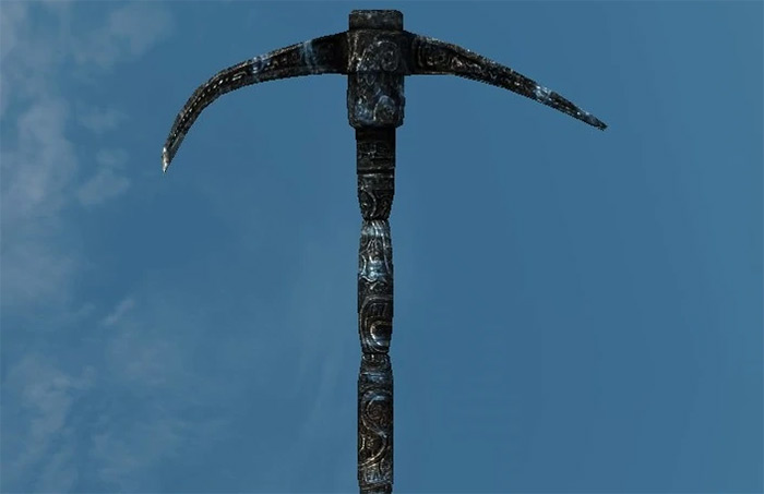 Hoarfrost axe from Skyrim