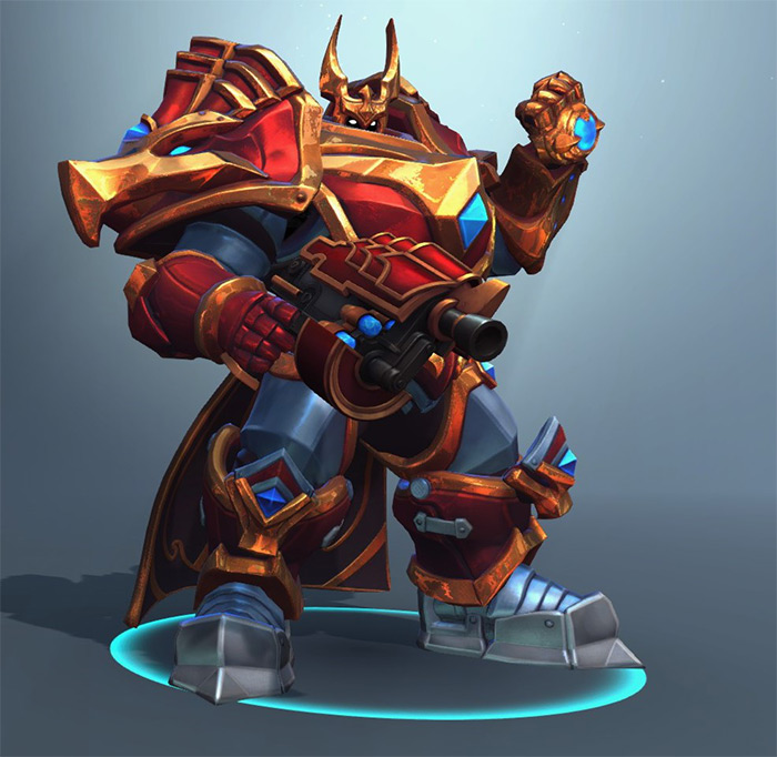 Khan frontline in Paladins